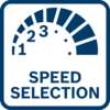 通过预选的速度得到优异的工作结果 可通过预选速度获得最佳作业效果,适用于需要材料专用速度的应用