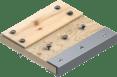 带金属木材