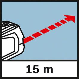 工作范围 测程达到15米