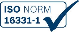 认证 按照ISO标准16331-1认证