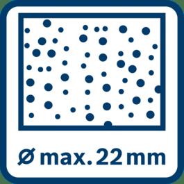 混凝土钻孔最大可达22 mm