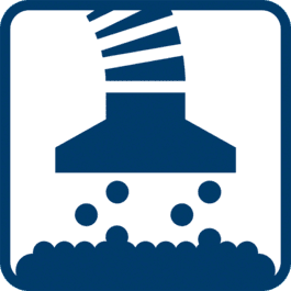 吸尘 直接吸入工具上的集成式集尘袋和/或使用通用的吸尘器