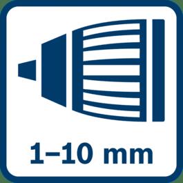 1.0 - 10.0 mm自动锁定夹头