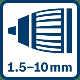 1.5 - 10.0 mm自动锁定夹头