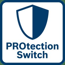 卓越的用户保护 保护开关释放时可瞬时关闭机器