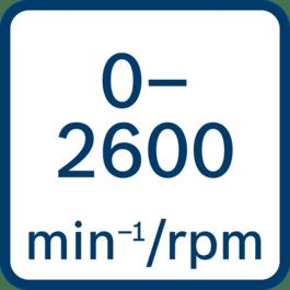 空载转速0 - 2600 min-1/rpm