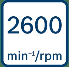 空载转速2600 min-1/rpm