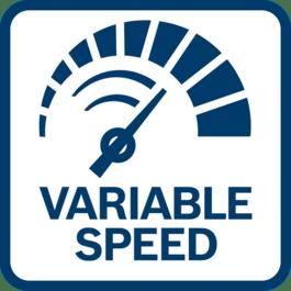 轻松、精确控制RPM 具有变速功能
