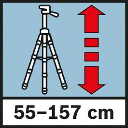 工作高度 55 - 157 厘米 工作高度 55 - 157 厘米