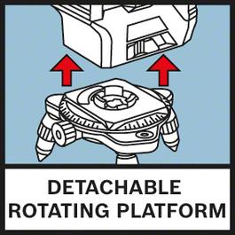 可拆式旋转平台 旋转迷你三脚架使精密定位变得更简单