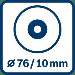 磨片直径76 mm