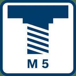 抛光心轴螺纹M 5