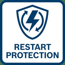 防止电力恢复后工具自动重启。 只有通过新的有意识激活后,工具才能重新使用
