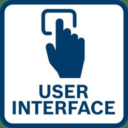 直接工具反馈和设置调整 得益于集成式用户界面和连接功能。