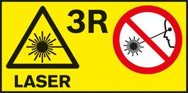 激光级别 3R 各种测量工具的激光级别。