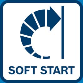 软启动,因为启动时马达的负载和扭矩会暂时降低。