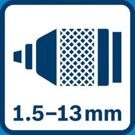 金属夹头,1.5 - 13.0毫米