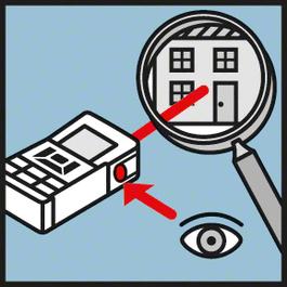 VF伸缩式观测镜 集成式观测镜可确保激光点的最佳可见性