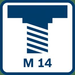 抛光心轴螺纹M 14