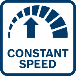 转速恒定,工作结果好 转速采用电子调节 - 即使在有负载下