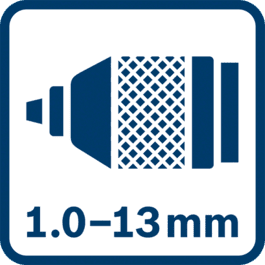 1.0 - 13.0 mm金属夹头
