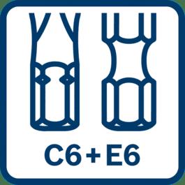 适用于C6 + E6钻头