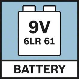 9.6 伏电池 由 1 块 9 伏 6LR61 电池供电