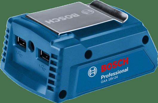 通过纸板箱包装,配电池适配器GAA 18V-24(1 600 A00 J61)